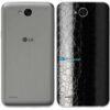 LG K10 Power Adesivo Traseiro Película FX Couro Negro