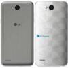 LG K10 Power Adesivo Traseiro Película FX Dimension Branco