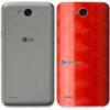 LG K10 Power Adesivo Traseiro Película FX Dimension Red