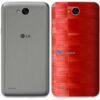 LG K10 Power Adesivo Traseiro Película FX Pixel Vermelho