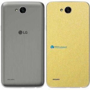 LG K10 Power Adesivo Traseiro Película Metal Dourado