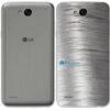 LG K10 Power Adesivo Traseiro Película Metal Escovado