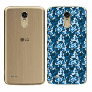 LG K10 Pro Adesivo Traseiro Película Camo Azul