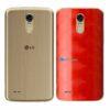 LG K10 Pro Adesivo Traseiro Película FX Dimension Red