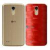 LG K10 Pro Adesivo Traseiro Película FX Pixel Vermelho