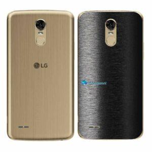 LG K10 Pro Adesivo Traseiro Película FX Preto Escovado