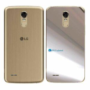 LG K10 Pro Adesivo Traseiro Película Metal Cromo