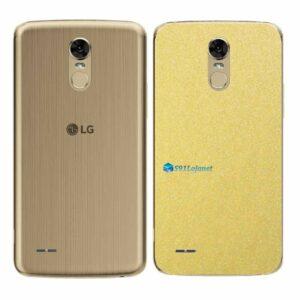 LG K10 Pro Adesivo Traseiro Película Metal Dourado