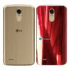 LG K10 Pro Adesivo Traseiro Película Metal Gold Red