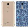 LG K11+ Adesivo Traseiro Película Camo Azul Pixel