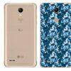 LG K11+ Adesivo Traseiro Película Camo Azul