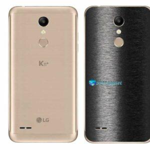 LG K11+ Adesivo Traseiro Película FX Preto Escovado