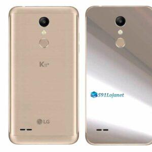 LG K11+ Adesivo Traseiro Película Metal Cromo