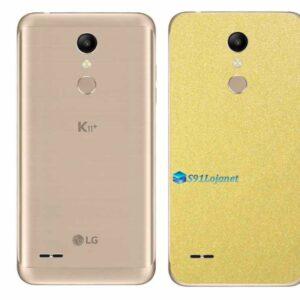 LG K11+ Adesivo Traseiro Película Metal Dourado