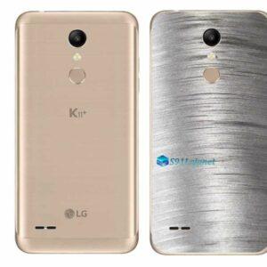 LG K11+ Adesivo Traseiro Película Metal Escovado