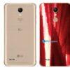 LG K11+ Adesivo Traseiro Película Metal Gold Red