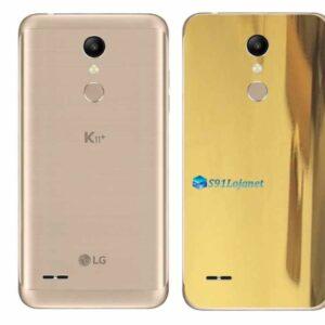 LG K11+ Adesivo Traseiro Película Metal Ouro Gold