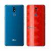 LG K12+ Adesivo Traseiro Película FX Dimension Red