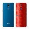 LG K12+ Adesivo Traseiro Película FX Pixel Vermelho