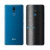 LG K12+ Adesivo Traseiro Película FX Preto Escovado