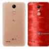 LG K9 TV Adesivo Traseiro Película FX Pixel Vermelho