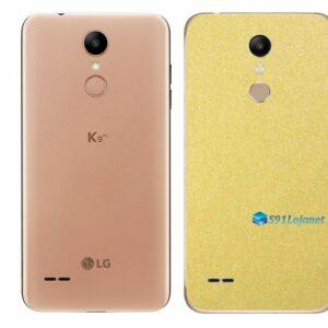 LG K9 TV Adesivo Traseiro Película Metal Dourado