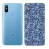 Mi A2 Adesivo Skin Traseiro Película Camo Azul Pixel