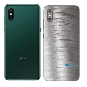 Mi MIX 3 Adesivo Skin Traseiro Película Metal Escovado