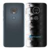 Moto G7 Plus Adesivo Traseiro Película FX Pixel Black