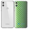 Motorola One Adesivo Traseiro Película Carbono Verde