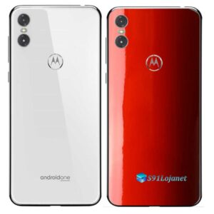 Motorola One Adesivo Traseiro Película Cor Vermelho