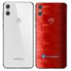Motorola One Adesivo Traseiro Película FX Pixel Vermelho