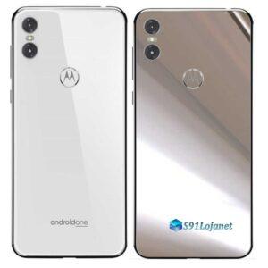 Motorola One Adesivo Traseiro Película Metal Cromo