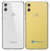 Motorola One Adesivo Traseiro Película Metal Dourado