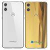Motorola One Adesivo Traseiro Película Metal Ouro Gold