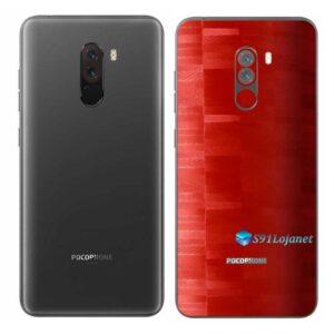 POCOPHONE F1 Adesivo Skin Película FX Pixel Vermelho