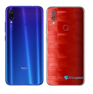Redmi Note 7 Adesivo Skin Película FX Pixel Vermelho