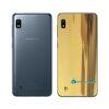 Galaxy A10 Adesivo Skin Película Tras Metal Ouro Gold