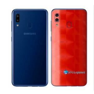 Galaxy A20 Adesivo Skin Película Tras FX Dimension Red