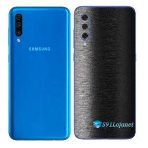 Galaxy A50 Adesivo Skin Película Tras FX Preto Escovado