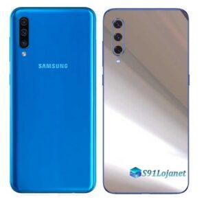Galaxy A50 Adesivo Skin Película Tras Metal Cromo