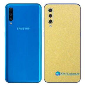 Galaxy A50 Adesivo Skin Película Tras Metal Dourado