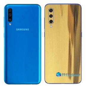 Galaxy A50 Adesivo Skin Película Tras Metal Ouro Gold