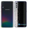 Galaxy A70 Adesivo Skin Película Tras FX Couro Negro