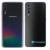 Galaxy A70 Adesivo Skin Película Tras FX Deep Black