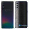 Galaxy A70 Adesivo Skin Película Tras FX Preto Escovado