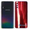 Galaxy A70 Adesivo Skin Película Tras Metal Gold Red