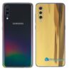 Galaxy A70 Adesivo Skin Película Tras Metal Ouro Gold