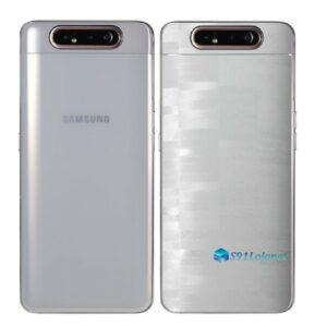 Galaxy A80 Adesivo Skin Película Tras FX Pixel Branco