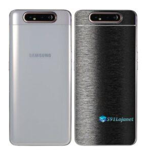Galaxy A80 Adesivo Skin Película Tras FX Preto Escovado